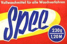""""""" #SPEE"""" - Vollwaschmittel - 230 g - EVP M 1,20 ---- """"SPEE"""" - washing detergent - *made in #GDR*"""