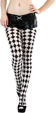dd28ba913eb66 ToBeInStyle Women's Harlequin Designed Full Footed Tights at Amazon Women's  Clothing store: