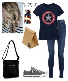 """""""Field Trip plus Update"""" by lillyd26 ❤ liked on Polyvore featuring J Brand, Converse, Marvel Comics, Rimen & Co., Ray-Ban, Casetify and Luckies"""