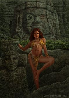 N'Kitta is the cover art for Into the Jungle, a kickstarter exclusive book of Jungle Girl pinups. https://www.kickstarter.com/projects/999214729/the-art-of-mitch-foust-2016-yearbook