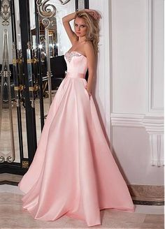 Fashion Satin Sweetheart Neckline A-line Prom Dresses With Belt & Beadings G314 · MeetBeauty · Online Store Powered by Storenvy