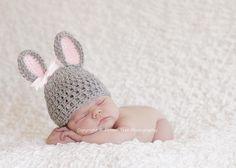 Newborn Girl Bunny Hat