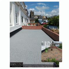 """Customer comment: """"We are so glad that we put our faith in Charly and his team to transform the front, side, and back of our house with Resin Bound Stone. The difference is quite remarkable. The team worked tire leady and professionally to produce the end result that we are really delighted with. We would highly recommend them to anyone."""" Resin Gravel, Resin Driveway, Stone Path, Swansea, South Wales, Teamwork, Paths, Mansions, House Styles"""