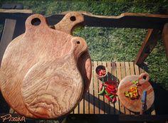 tábua de corte em madeira