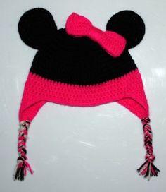 Minnie of Mickey Mouse Muts Cool Kids, Kids Fun, Crochet For Kids, Mickey Mouse, Winter Hats, Crochet Hats, Beanie, Hooks, Diy