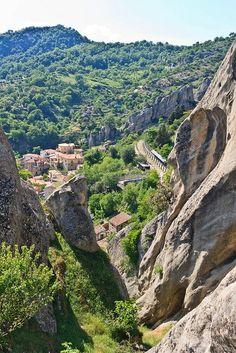 Road in the Hills to Castelmezzano in Potenza  ~ Basilicata, Italy