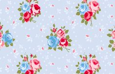 shabby chic, pattern,trendy,modern,vintage,pale blue,white,pink,green,roses,dots,polka dots,retro
