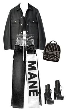 """""""make it your own"""" by briannamazzola ❤ liked on Polyvore featuring Helmut Lang, Casadei and Chanel"""