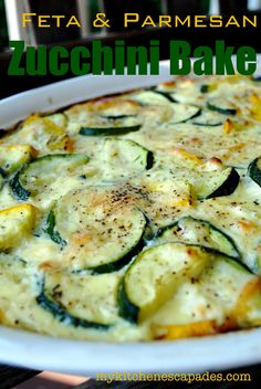 My Kitchen Escapades: Feta & Parmesan Zucchini Bake. I've made this. It's good!
