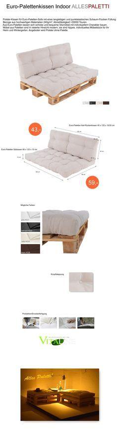 details zu palettenkissen palettenpolster paletten kissen sofa polster in outdoor sofa polster. Black Bedroom Furniture Sets. Home Design Ideas