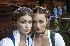 """Blumen-Haarreife """"Sopherl"""" und """"Zenzi"""" - perfekt für die Dirndl-Frisur, zur Hochzeit oder zum Sommerkleid"""