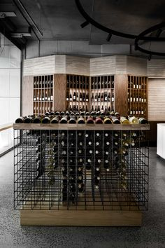 Act of Wine by ZWEI - Melbourne Hospitality Architecture Design Project - The Local Project Wine Shop Interior, Interior Design Awards, Retail Interior, Australian Interior Design, Wine Cellar Design, Wine Design, Wine Bottle Display, Home Wine Cellars, Deco Restaurant