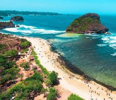 A beautiful view of Goa Cina Beach, Malang, East Java, Indonesia  Photo by: IG @ryoaulya