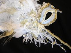 Blue Marie Antoinette Mask III by BridalBijou on Etsy, $185.00