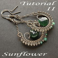 Tutorial II wirewrapped earrings step by step by MadeBySunflower
