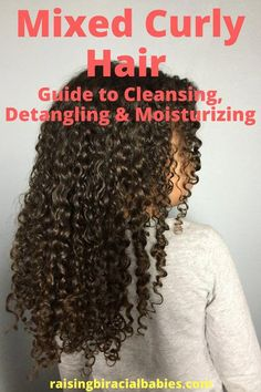 to Care for Mixed Hair (Step by Step Instructions) These step by step instructions will help you learn how to care for mixed hair. You'll learn how to cleanse, moisturize, detangle and style biracial curly hair. Mixed Curly Hair, Mixed Hair Care, Curly Hair Tips, Curly Hair Care, Short Curly Hair, Curly Hair Styles, Natural Hair Styles, Diy Hair, Mixed Kids Hairstyles