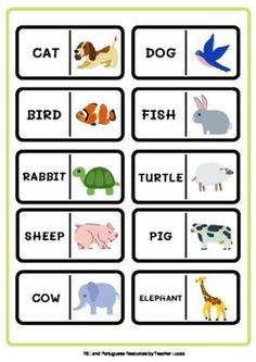 Animals: Domino Game by ESL and Portuguese resources by Teacher Lucas English Activities For Kids, English Worksheets For Kids, Sheep Pig, Easel Activities, English Language Learning, Teacher Favorite Things, Learning Resources, Teacher Newsletter, Teacher Pay Teachers