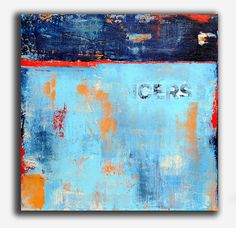 Original Abstract  Painting by erinashleyart on Etsy, $375.00.  I like the colors and texture :)