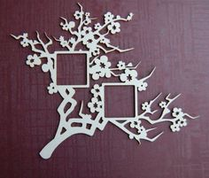 NEW!!! Die-cut Frame Blossom Cherry-tree I !!! Cardmaking Album Scrapbooking