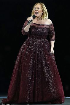 Adele urges fans to donate to 'neglected' London fire victims: Adele Live, Adele Concert, Adele Adkins, Concert Dresses, Nice Dresses, Formal Dresses, Evening Dresses, Celebs, Gowns