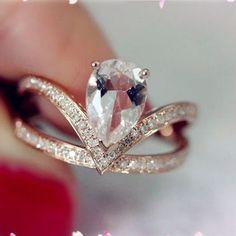 14K Rose Gold Morganite Ring Engagement from LoveGemArts on Etsy