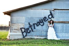 Trash the dress divorce photo shoot. (After all is said and done, might be therapeutic) Kind of a cool idea might need to steal it for friends and clients.