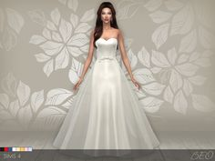 And one more variant for lovers of minimalism :) Wedding dress 01 (8 colors) DOWNLOAD