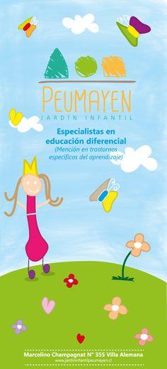 Pendón, jardín infantil/Dibujos hechos por niños.