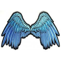 Beautiful Blue Angel Wing Patch
