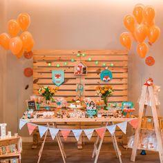 Super Baby Shower Ides Safari Decoration First Birthdays Ideas Fox Party, Baby Party, Wild One Birthday Party, Baby Birthday, Boy Baby Shower Themes, Baby Boy Shower, Baby Event, Safari Decorations, Baby Shower Winter