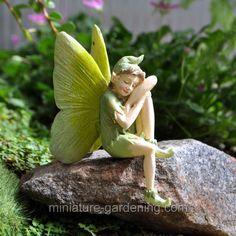 Moth the Green Fairy - $7.99