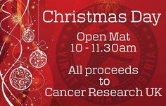 Tomorrrow we are running an Open Mat from 10am. All clubs and belt levels welcome. All proceeds plus a per head donation from the club (for those paying monthly) will go to Cancer Research UK. Happy Christmas everyone! #BJJ #FactoryBJJ #BJJinManchester #Christmas