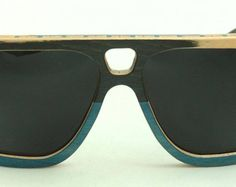 Wooden Sunglasses handmade from upcycled skateboards by Wooden Sunglasses, Blue Grey, Skateboard, Eyewear, Upcycle, Trending Outfits, Unique Jewelry, Vintage, Style