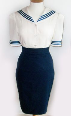 Lana Sailor Blouse - Lolly Doll Clothing