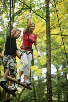 Adirondack Extreme Package. Enjoy an overnight stay for two with reservations for the Adirondack Extreme Adventure Course. Spend the day playing in the trees with zip lines, suspended bridges, swings, slides & more! Return to the Inn for an indulgent three course candlelit dinner, receive our signature turndown service, & delight in a full country breakfast in the morning. One night package per couple starts at $439.00. Available April - November.