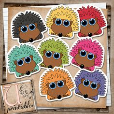 U printables by RebeccaB: FREE printable - Cute Hedgehogs