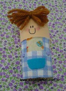 toilet paper dolls, sunday school