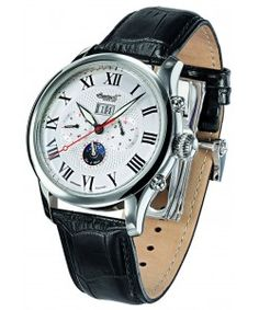 INGERSOLL LENOPE Automatic Black Leather Strap(IN1411SL) Ingersoll Watches, Black Leather