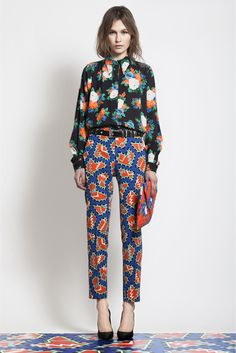 MSGM Pre-Fall 2012 - I love the pattern mixing going on here (and matching your pants to the floor should be a requirement!). I feel like these 2 patterns together could be really crazy but somehow really works...