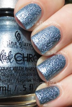 China Glaze Crinkled Chrome Collection Swatches - Iron Out Details