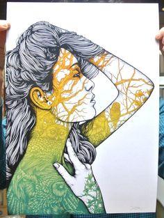 """Sisters"" Art Print Set by Dan Mumford"