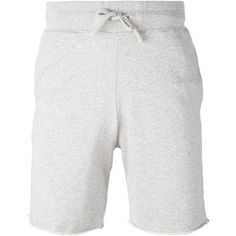 Majestic Filatures track shorts (295 BRL) ❤ liked on Polyvore featuring men's fashion, men's clothing, men's activewear, men's activewear shorts, grey and majestic filatures