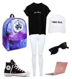"""""""Go Away"""" by janers123 on Polyvore featuring Miss Selfridge, Converse, Nasaseasons, Ray-Ban and Incase"""