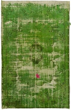 Apparently 'pink and green should never be seen'. Really? Vintage overdyed Loom rug.