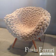 crochet in decoration (and design) – Dream Furniture, Unusual Furniture, Home Decor Furniture, Cool Furniture, Diy Home Decor, Furniture Design, Crochet Art, Crochet Home, Crochet Furniture