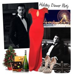 """""""Richard Armitage; Holiday Edition, Happy Holidays!"""" by sammybby ❤ liked on Polyvore featuring Valentino, Alexander McQueen, Christmas, reddress, holiday, HolidayParty and RichardArmitage"""