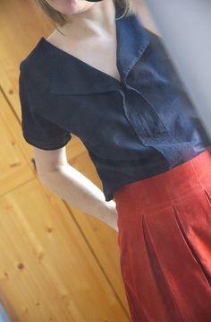 weekend getaway blouse - Liesl and Co, by Autant en emporte l'automne