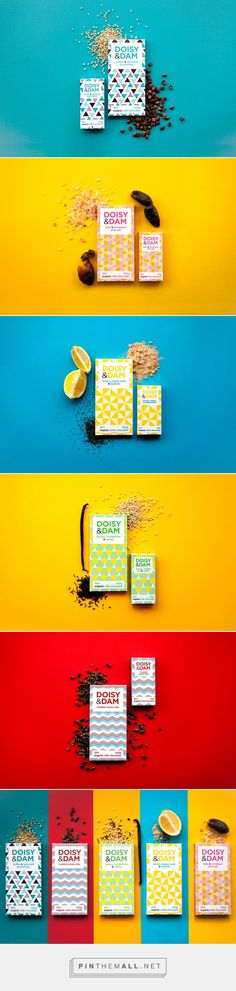 Doisy & Dam Packaging by Beth Salter: Cool Packaging, Coffee Packaging, Brand Packaging, Packaging Ideas, Corporate Design, Branding Design, Chocolate Packaging, Newsletter Design, Packaging Design Inspiration