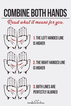 Place the palms of your right and left hand together as shown below and compare the palm lines right below the fingers. Do you form a 2 or 3 Palm Reading Lines, Palm Reading Charts, Palm Lines, Palm Reading Right Hand, Hand Lines Meaning, Empathetic Person, Palmistry Reading, Cultures Du Monde, Health Planner