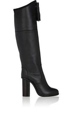 LANVIN Tassel-Embellished Leather Knee Boots. #lanvin #shoes #boots